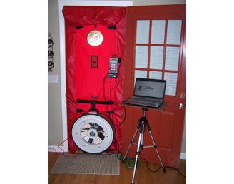 Blower door image