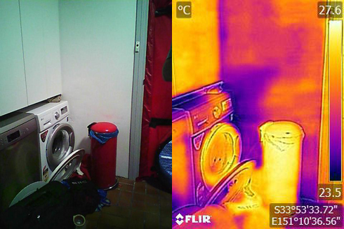 washing machine thermal image